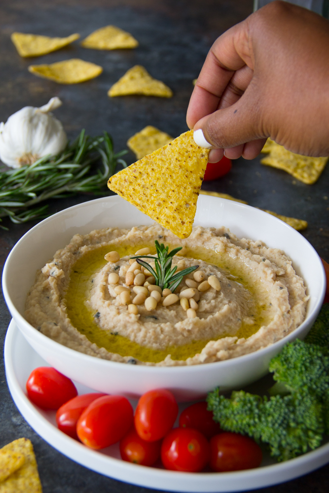Roasted Garlic & Rosemary White Bean Dip Recipe