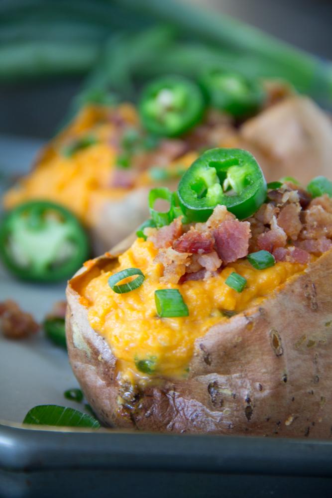 Savory Jalapeno Mashed Sweet Potatoes
