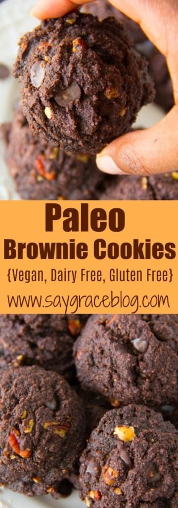 Paleo Brownie Cookies {Vegan, Dairy Free, Gluten Free}