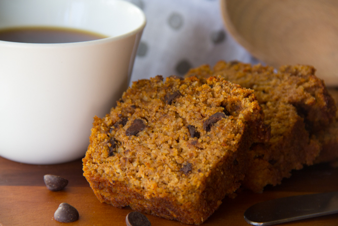 Petite Paleo Chocolate Chip Pumpkin Bread Recipe