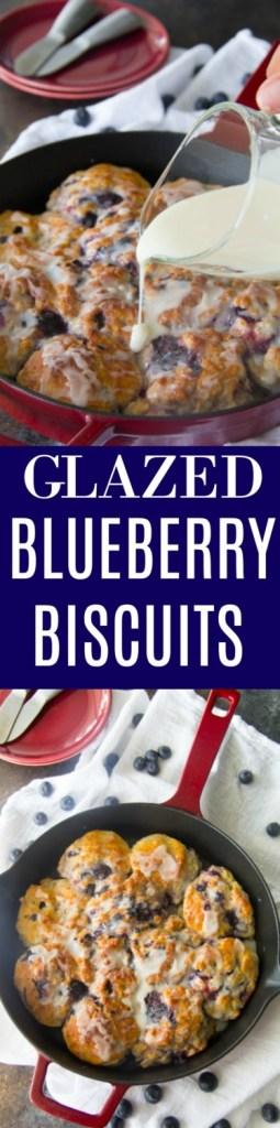 Glazed Blueberry Biscuits {Bojangles Copycat}
