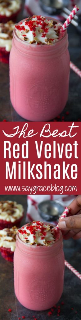 The Best Red Velvet Milkshake
