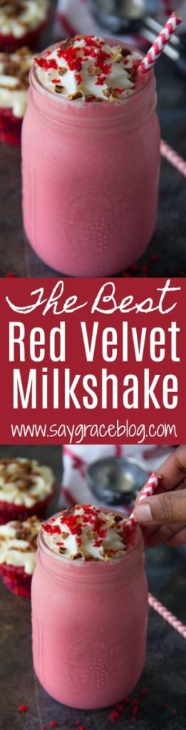 The Best Red Velvet Milkshake