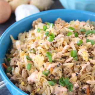 Egg Roll In A Bowl Recipe {5th Blogiversary Giveaway}