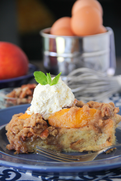Peach Cobbler French Toast Casserole