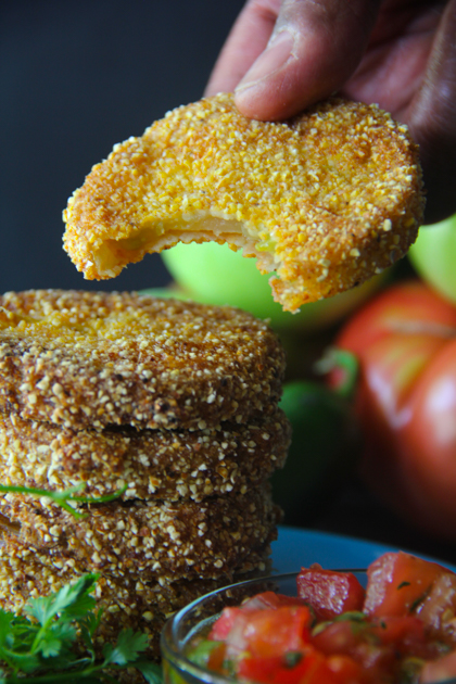 Lisa's Fried Green Tomatoes with Tomato Relish