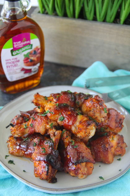 Maple Bacon Wrapped Wings
