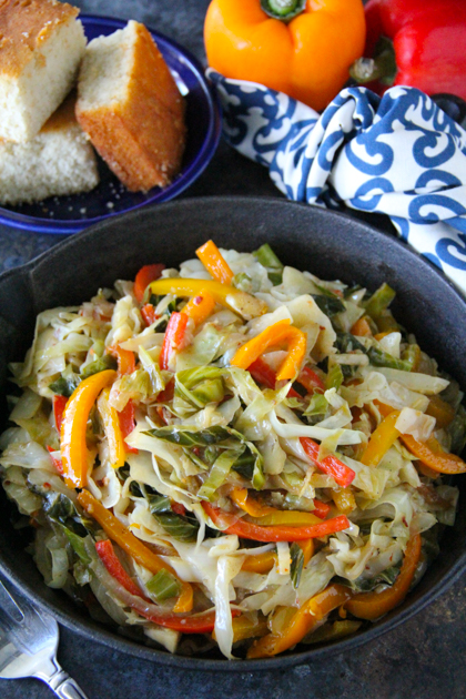 Southern Fried Cabbage With Bacon