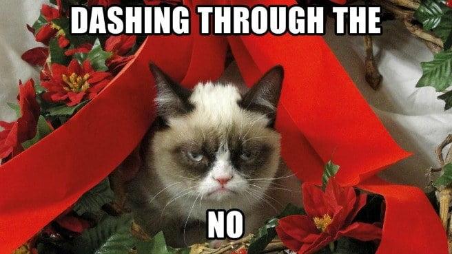 dashing through the no funny merry christmas memes