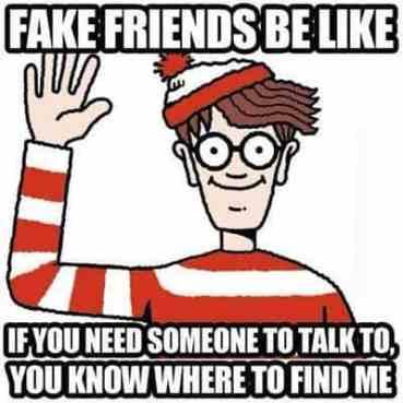 Image result for fake friends meme