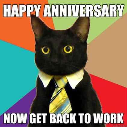 One Year Work Anniversary Meme