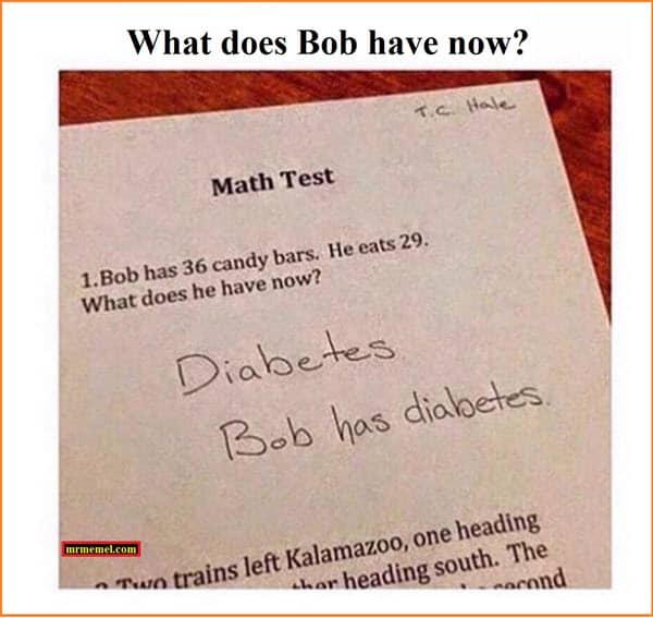 funny math test memes