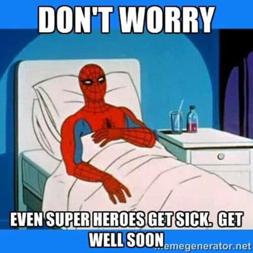 get well soon superheroes meme