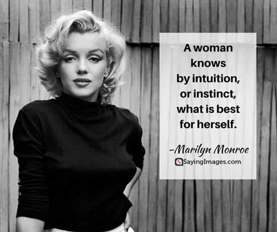 Best Marilyn Monroe Quotes   Sayings   SayingImages com marilyn monroe intuition quotes