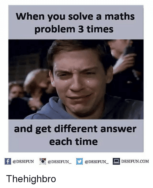 45 Funny Math Memes We Can All Relate To SayingImagescom
