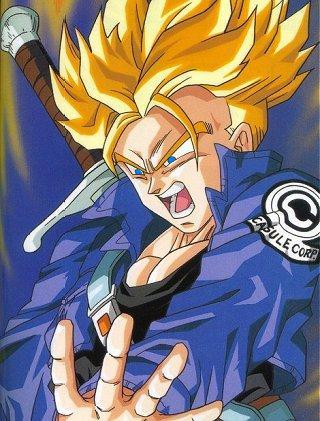 Trunks: Trunks is the first child of Vegita and Bulma. There are two Trunks'