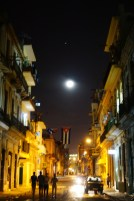 Havana streets by night