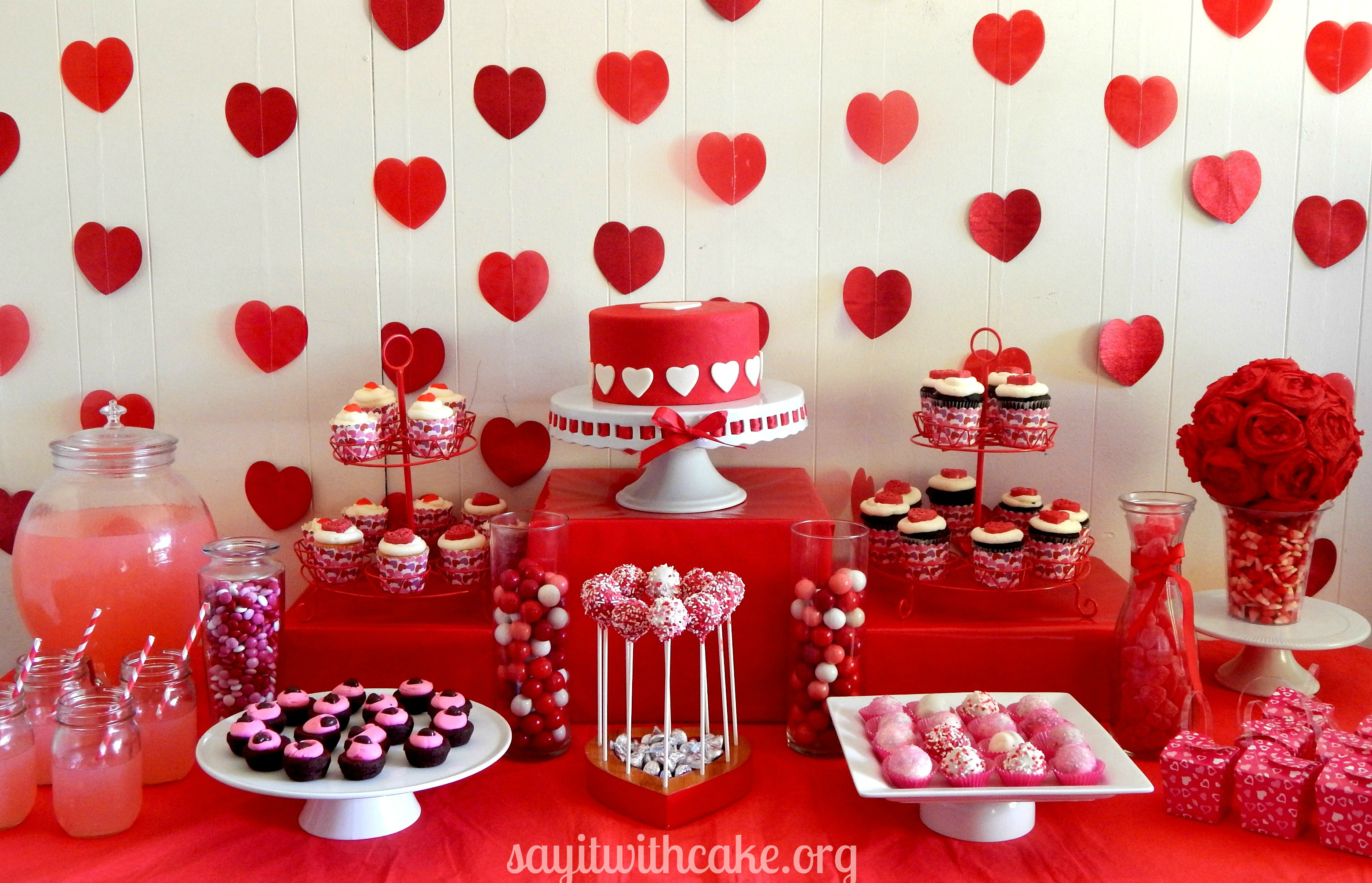 Valentines Day Dessert Table Say It With Cake