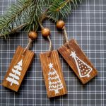 Three Rustic Trees Ornaments And Free Svg Say It With Simplicity