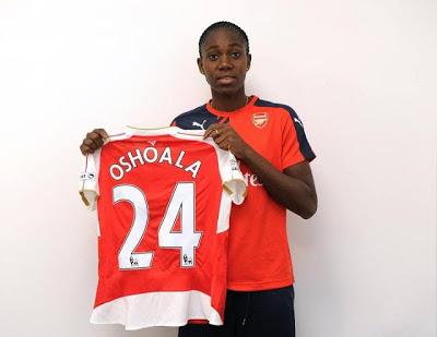 Nigeria's Azizat Oshoala joins Arsenal ladies