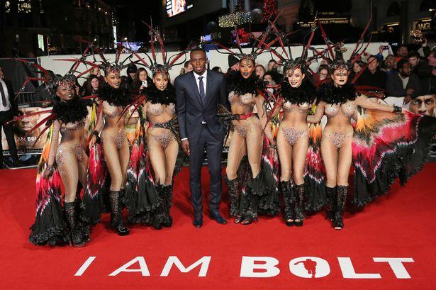 Football Stars Storm Usain Bolt's 'I Am Bolt' Movie Premiere