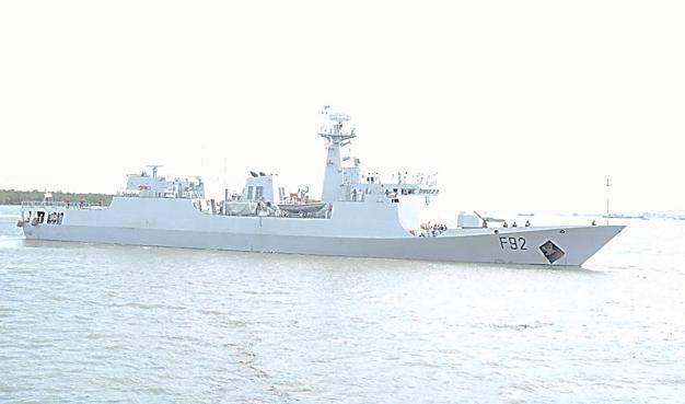 Nigerian Navy Warship, NNS UNITY, Arrives Dakar