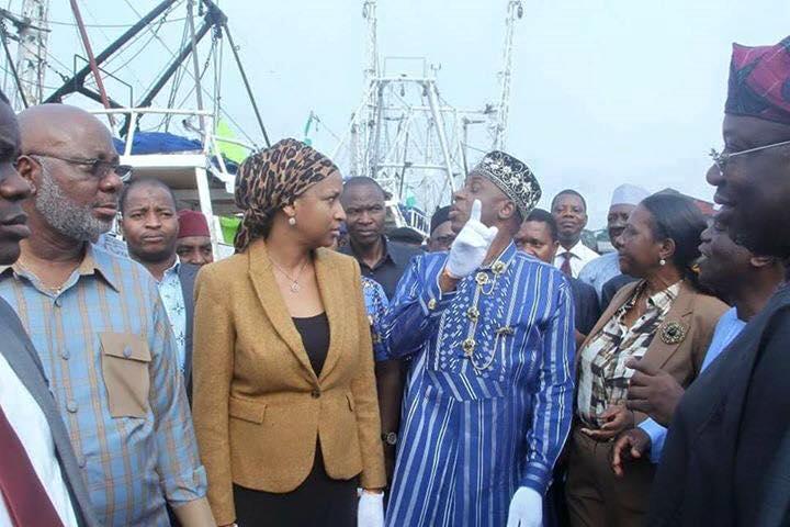 PHOTOS: Amaechi Inspection Tour To KiriKiri Lighter Terminal Lagos State