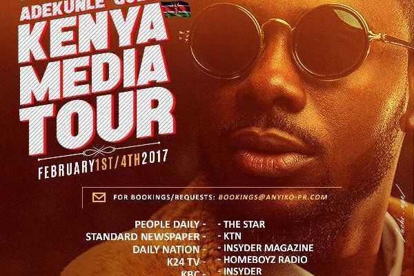 Adekunle Gold Commences a Media Tour of Kenya