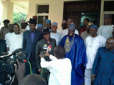 PDP Chairman, Ali Modu Sheriff Visits Former President Jonathan in Abuja
