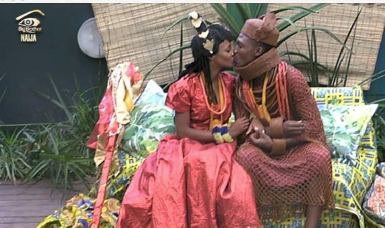 Reactions Trail #BBNaija's Efe and Marvis' Mock Wedding (Photos)