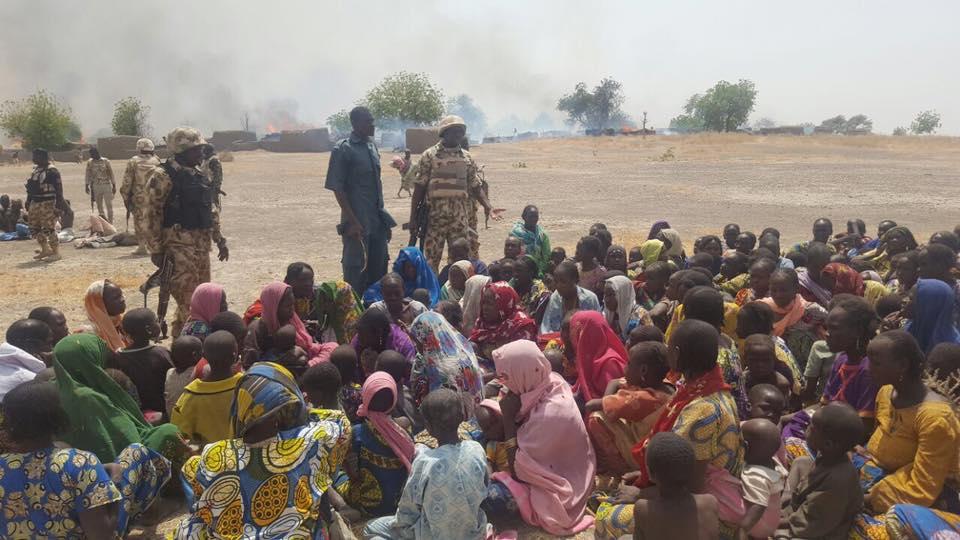 Nigerian Army Destroy Boko Haram Logistics Base, 455 Hostages Freed