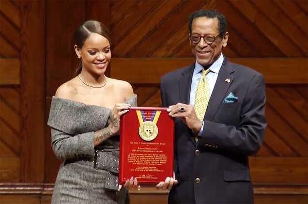 Rihanna Receives Harvard University's Humanitarian Award & Delivers Inspiring Speech