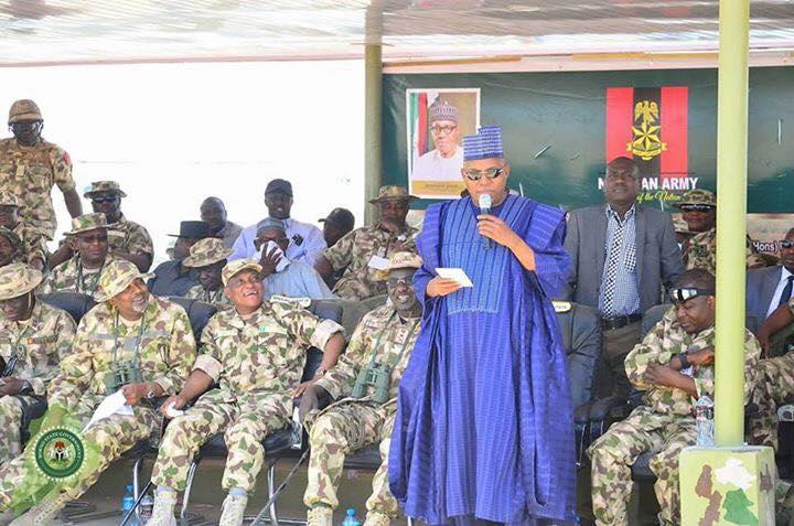 COAS Commends Borno State Governor For Renovation Works At Bama Barracks