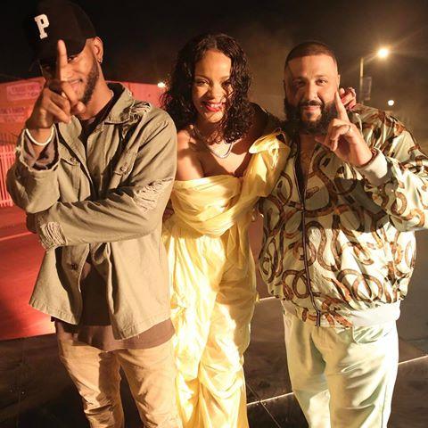 DJ Khaled shares B.T.S. photos from New Video Shoot with Rihanna & Bryson Tiller