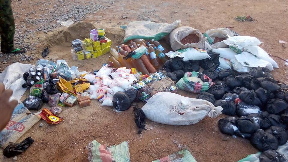 Nigerian Army Ambush Boko Haram Terrorists, Recovers Food Items