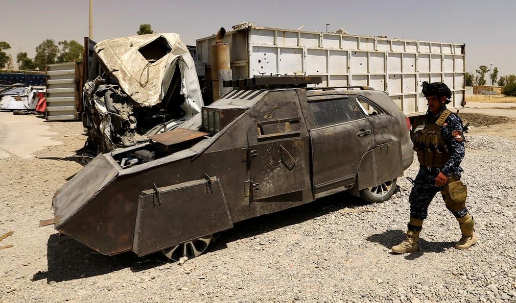 Police Capture ISIS Customized Car Bombs - PHOTOS