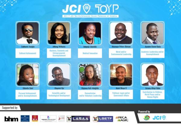 Meet JCI's Ten Outstanding Young Persons of Nigeria 2017