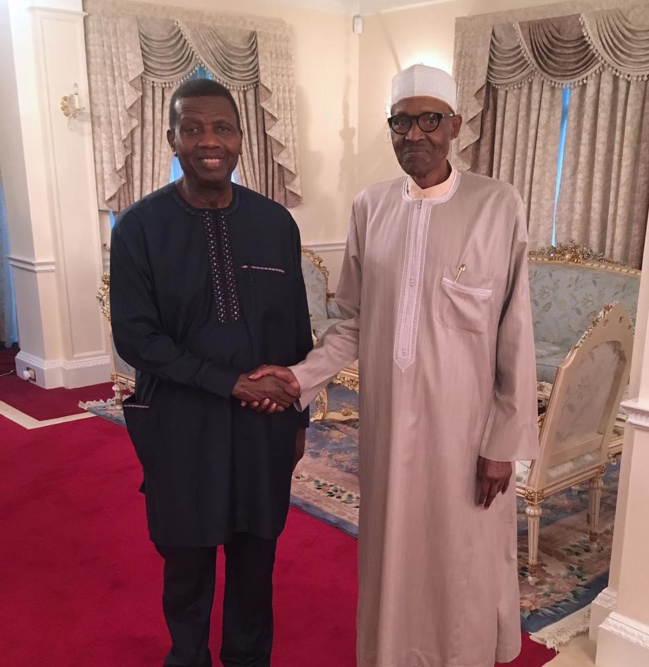 RCCG Pastor E.A Adeboye Visits President Buhari In London