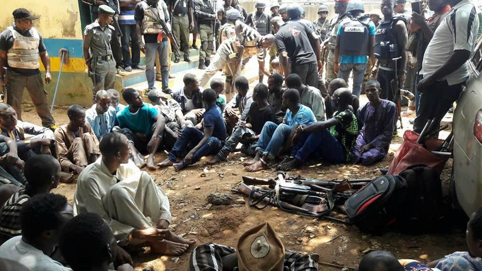 Nigerian Police Parade 32 Kaduna Highway Kidnappers