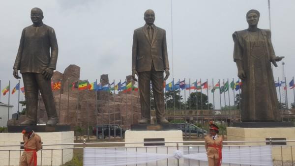 Gov. Rochas Unveils Statues of Ellen Johnson Sirleaf, Nnamdi Azikiwe, Tafawa Balewa, Kwame Nkrumah in Imo State