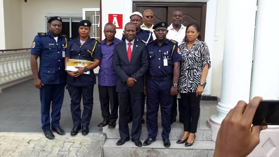 Men Of Federal Fire Service Visits EFCC