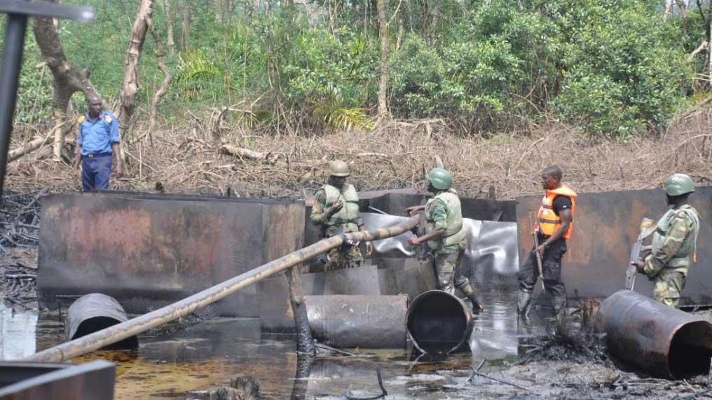 Nigerian Navy Destroyed 1000 Illegal Refineries In Nine Months – Official