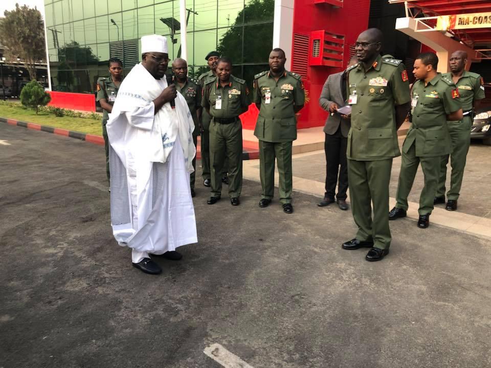 Alhaji Dawud Makanjuola Of De-Mark Motors Donates Exotic Vehicles To Nigerian Army