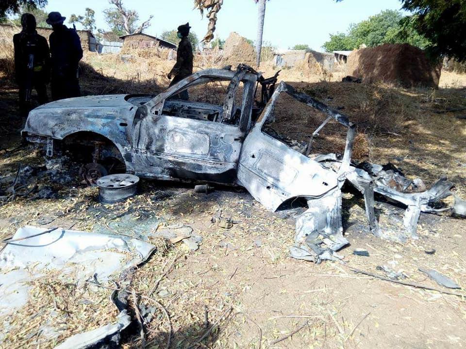 Nigerian Army Intercept Fleeing Boko Haram Vehicle Borne IED