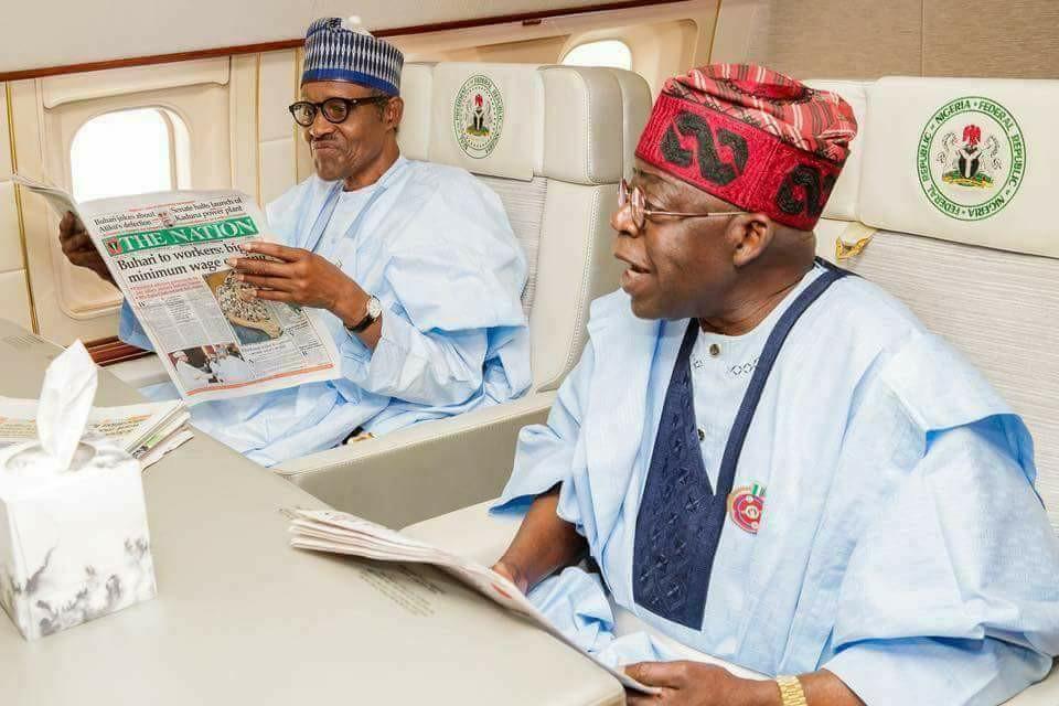 Tinubu Meets With Buhari, Opposes Removal Of Oshiomhole
