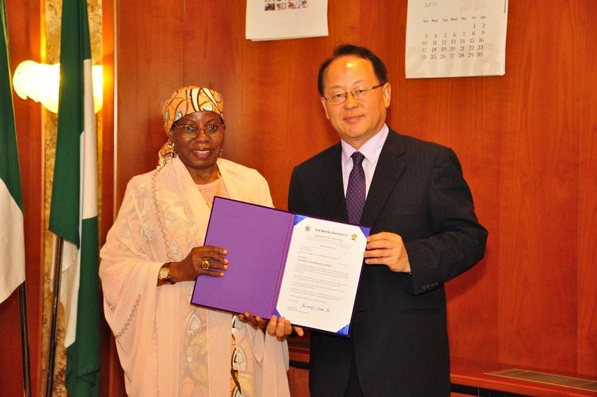 Aisha Buhari Honoured with Doctorate by Korean University