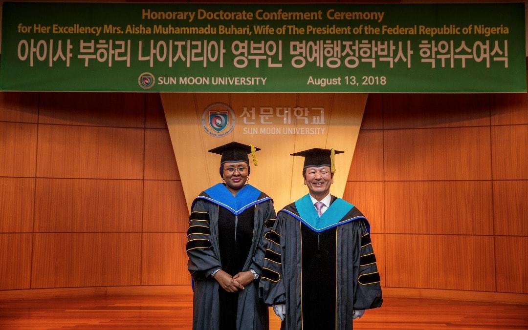 Aisha Buhari Dedicates Doctorate To Nigerian Women And Children