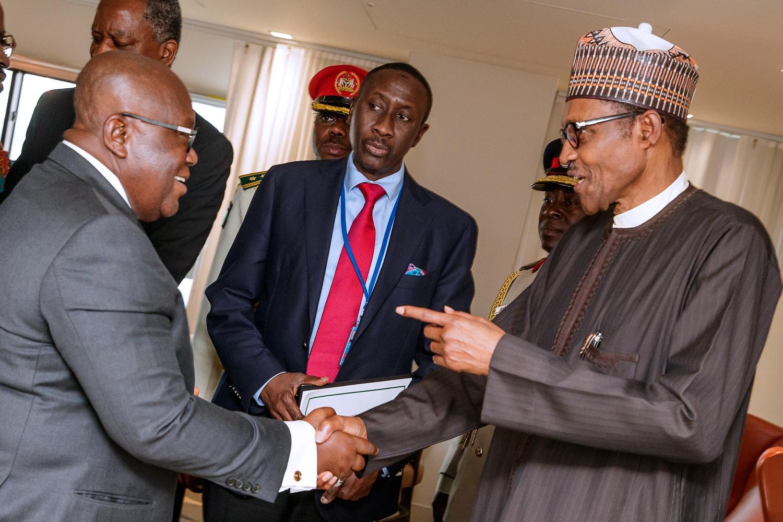 At UN, Presidents Buhari, Akufo-Addo Confer On Attacks On Nigerian Traders