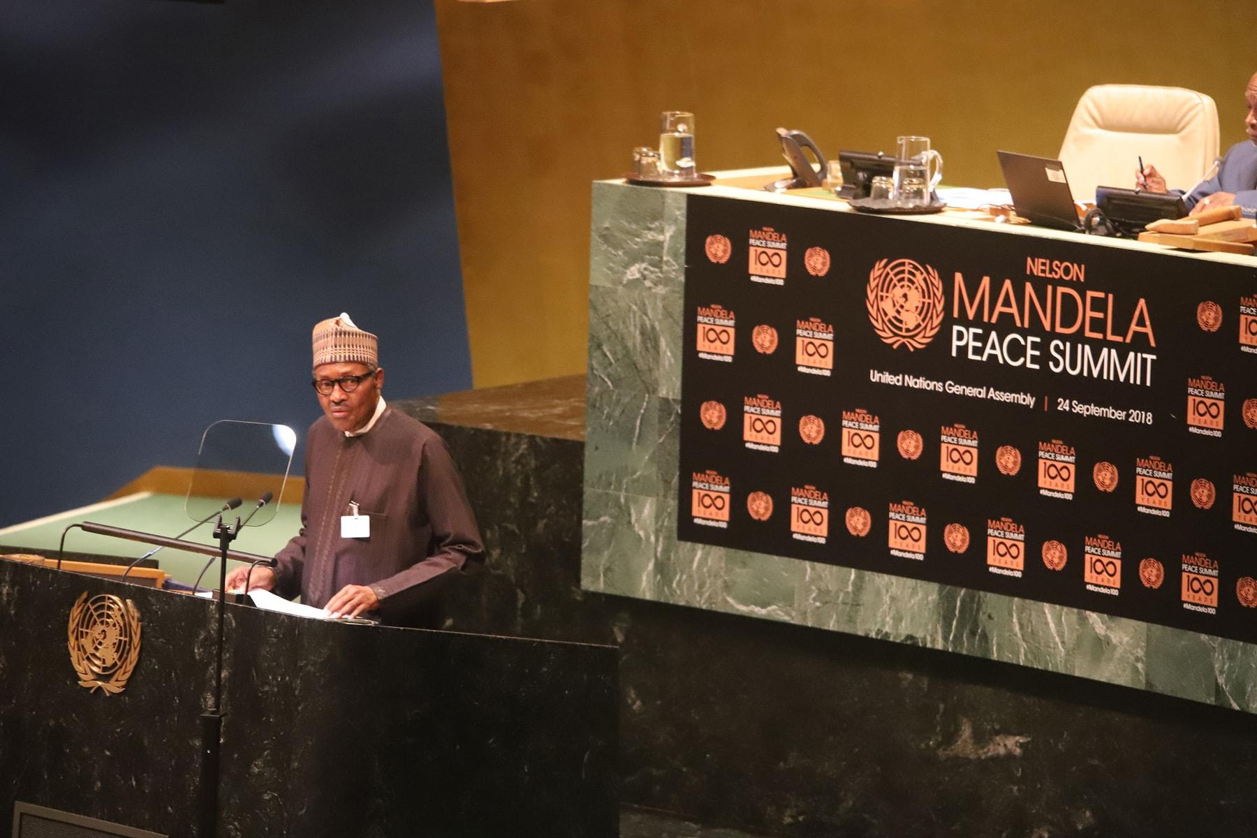 President Buhari Extols Nelson Mandela's Virtues, Condemns Discrimination
