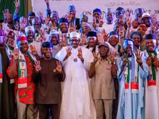 President Buhari Inaugurates APC Presidential Campaign Council